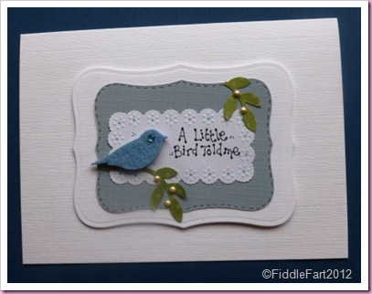 A Little Bird Told me Card