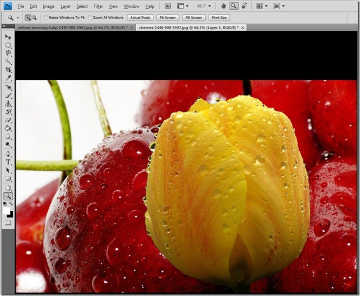 change background image photoshop