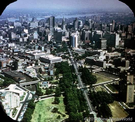 View-Master Philadelphia (A631), Scene 1: Aerial of City Center