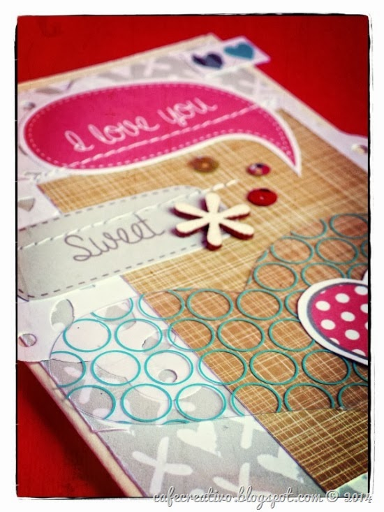 cafe creativo - sizzix big shot - valentiner card - paper free