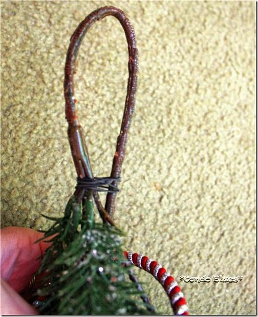 make Christmas outdoor swag hanging loop