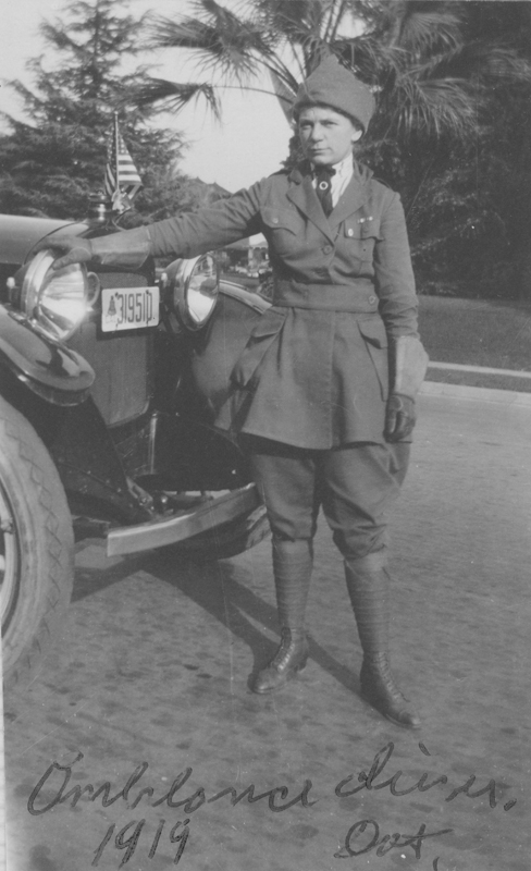 Dorothy Putnam served as an ambulance driver in the United States during World War I. 1919.