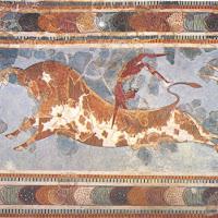 14.- Fresco con escena de tauromaquia en Cnossos