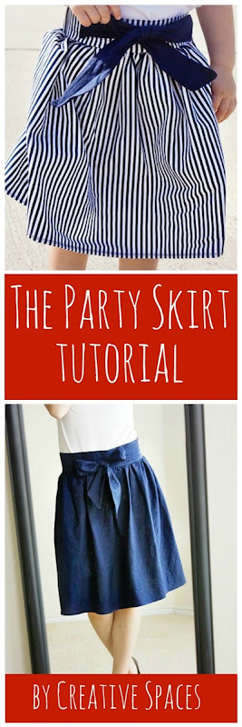 The Party Skirt Tutorial by Creative Spaces