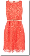Oasis Orange Lace Dress