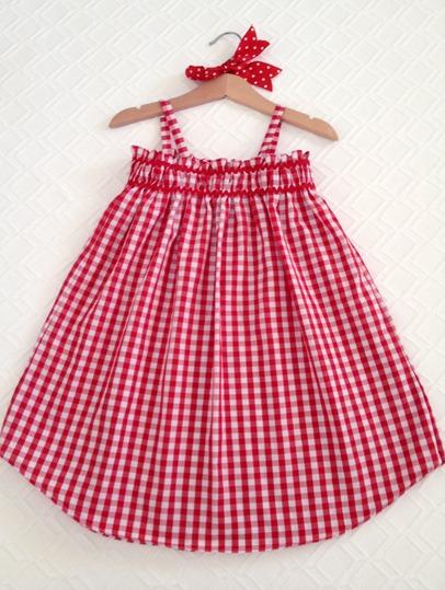 vestido terminado en percha