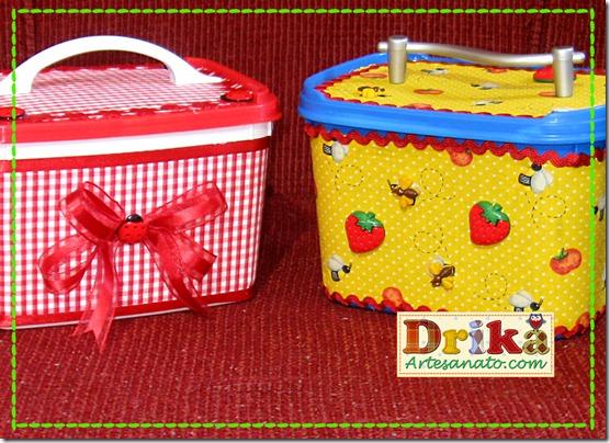 Potes de sorvete decorados Blog Drika Artesanato Detalhes
