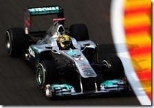 Schumacher nelle prove libere del gran premio del Belgio 2011