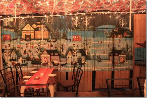 昆山夢田香草,有些地方巧妙的用了圖畫百葉窗來裝飾,想要更多光線時也可以把百葉窗張開。