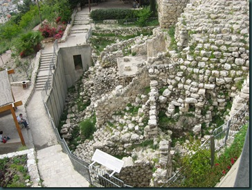 City of David - part of the Royal Palace
