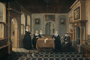 RIJKS: attributed to Dirck van Delen: painting 1652