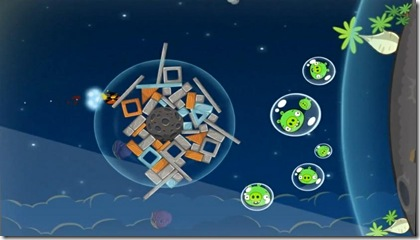 Angry Birds Space Screen Game