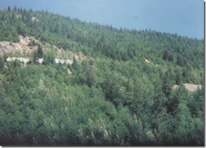 View of Concrete Snowshed Walls near Milepost 1712 on the Iron Goat Trail from Highway 2 Viewpoint in 1994