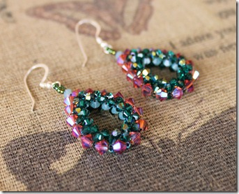 mabeline gidez evangaline's beaded crystal loop earrings padparadscha emerald pacific opal 2