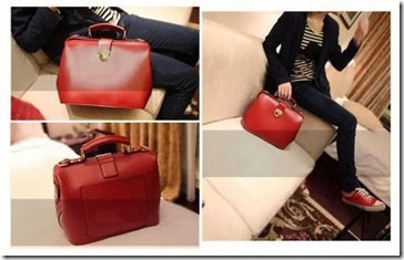 ID 8517 RED (209.000) - PU Leather, 21 x 29 x 18