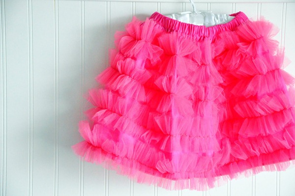 tulle ruffle skirt tutorial