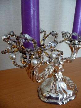 035 Ljusmanschett med glaspärlor Daniel Grankvist