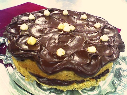Torta de avellanas y chocolate