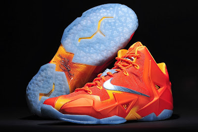 nike lebron 11 gr atomic orange 4 04 forging iron New Look at Forging Iron LeBron XI and Its Sick Packaging!