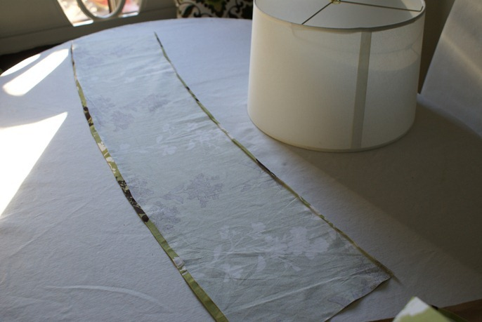 Lampshade slip cover tutorial