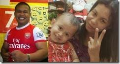 Gambar isteri dan anak pembunuh pegawai AmBank 4