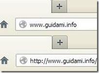 Protocollo http:// mostrato nella barra indirizzi internet di Firefox