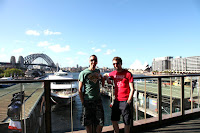 Me and Aubain at Circular Quay