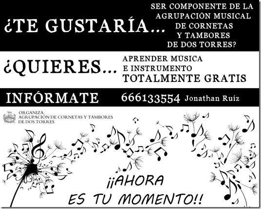 Cartel Clases Musica