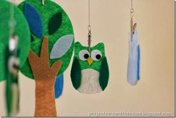 DIY Owl Baby Mobile