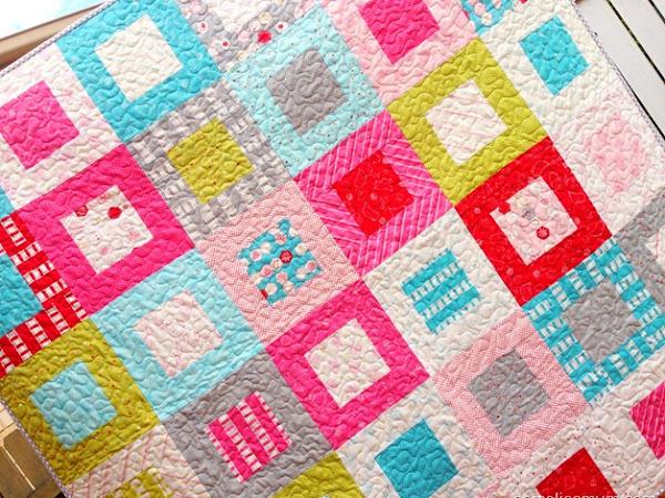 Sew Stitchy Squares - Quilt {Tutorial}