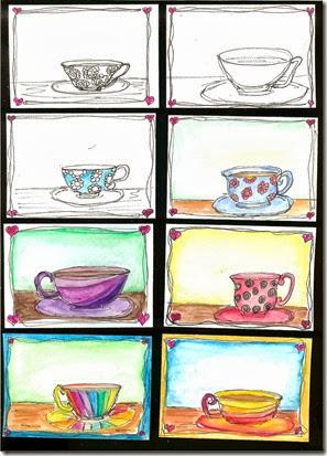 Tea Cup ATCs 001