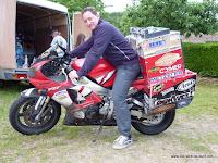 I sat on the Bike of Sjaak Lucassen. Very uncomfortable :-)