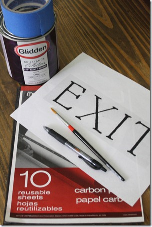 supplies for painting signs
