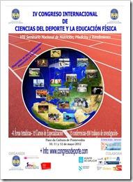 IV Congreso Internacional Ciencias del Deporte y la Educación Física en Pontevedra, Mayo 2012.