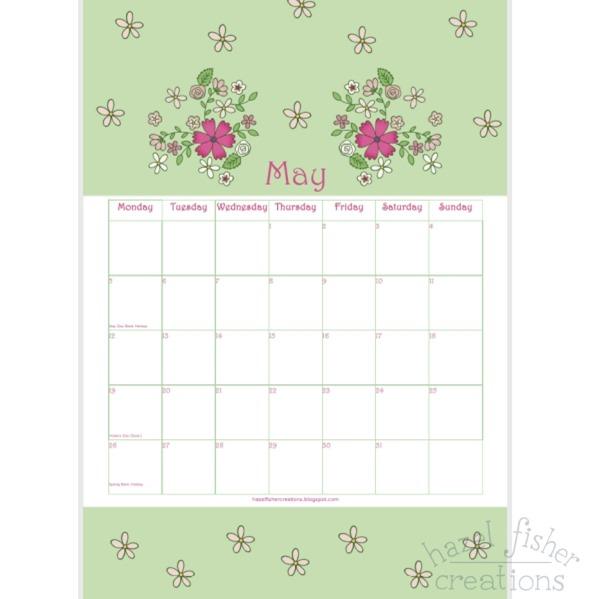 May free printable calendar