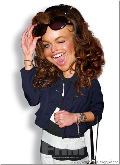 Caricatura Lindsay Lohan
