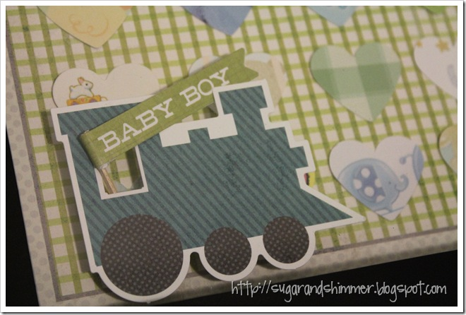 Baby Card Shadowbox - Train