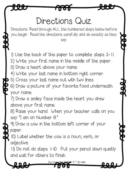 free following directions worksheets - Worksheets for Kids ...