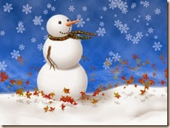 snowman-on-blue-background