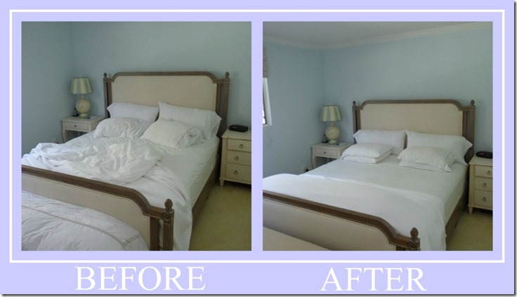 Ribbet collage UNMADE BED BEFORE AFTER