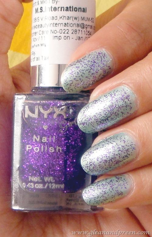 NYX Nail Glitter NOTD