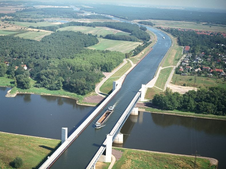 Image result for Magdeburg water bridge