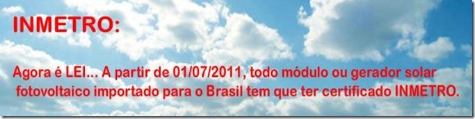 Solar Brasil Lei Inmetro
