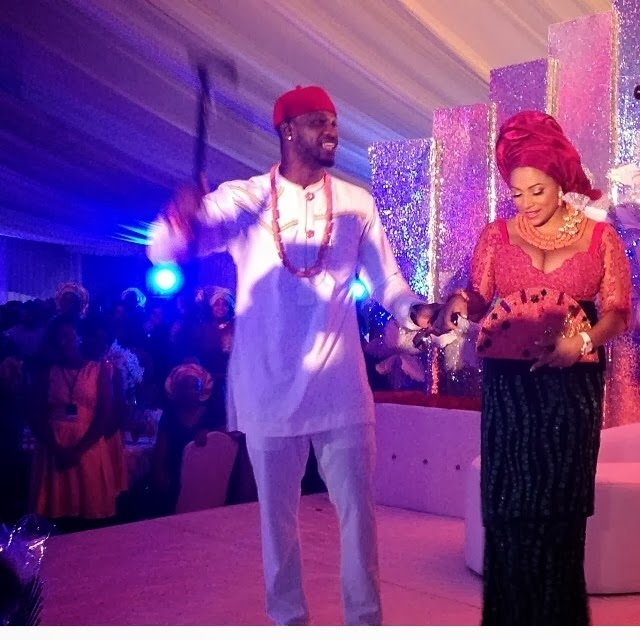 peter okoye wedding reception