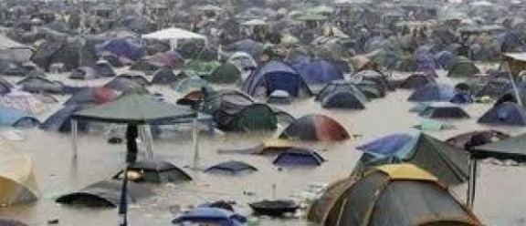 The U.K. edition of the Creamfields dance music festival was cancelled after being hit with massive flooding that turned the festival site near Warrington into a gigantic swamp. 26 August 2012