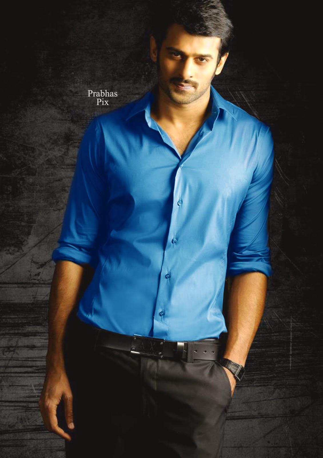 Prabhas Mirchi Wallpapers In Black Shirt