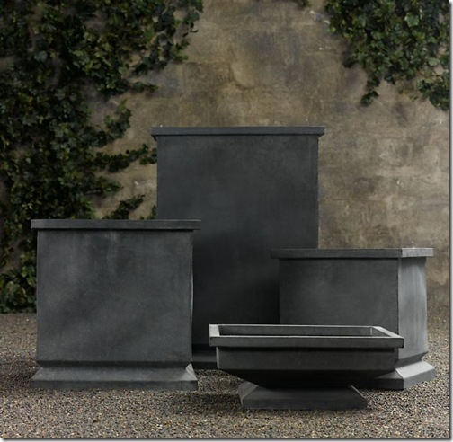 RH zinc footed planters