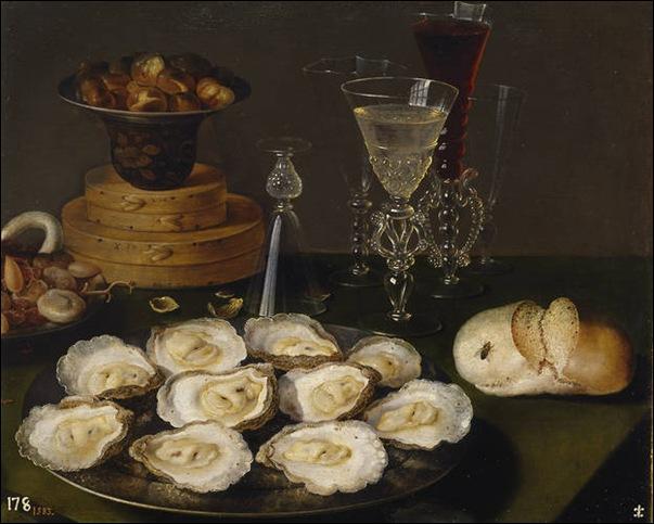 Ecole flamande, Nature morte aux huîtres
