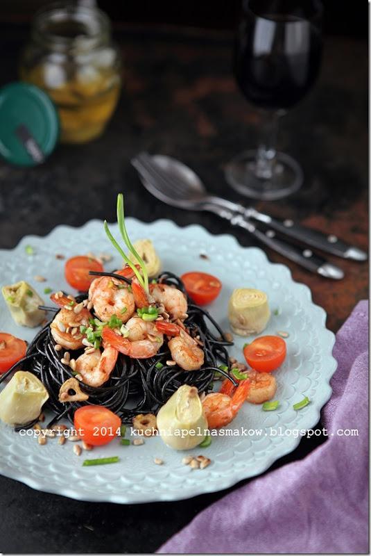 makaron sepia z krewetkami i kaparami (3)