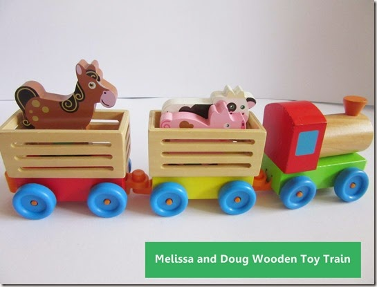 melissa and doug wooden toy train set